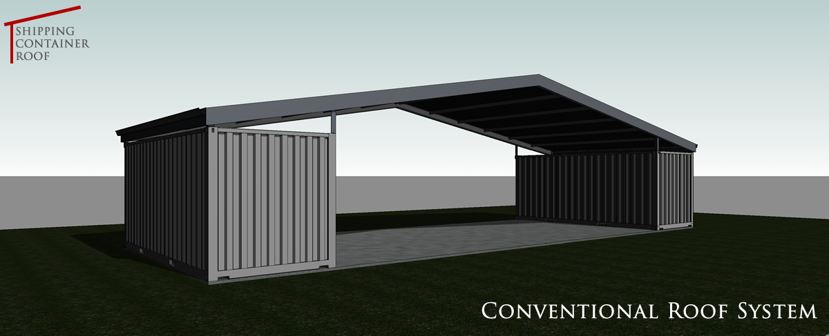 Shipping Container Roof Roofs Containers Building Shed
